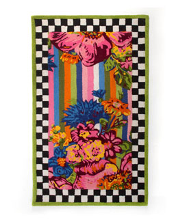 Flower Market Outdoor Rug, 3' x 5'