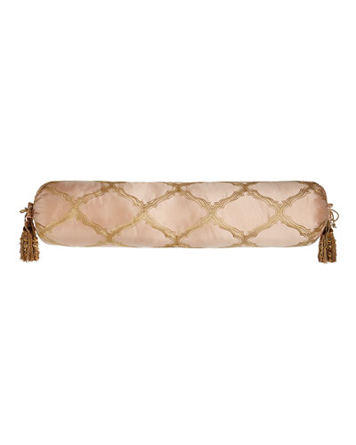 Extra-Long Versailles Bolster Pillow with Tassels  9 x 36