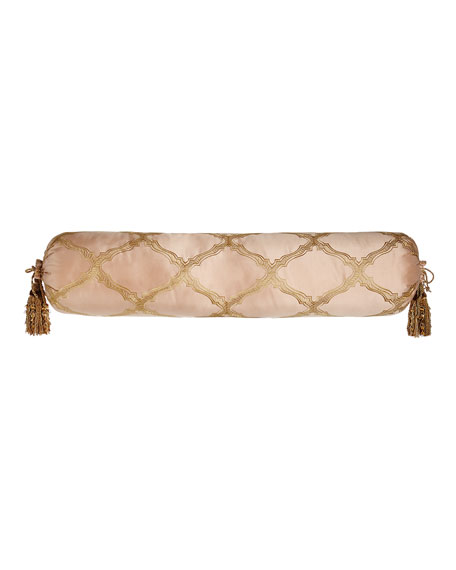 Extra-Long Versailles Bolster Pillow with Tassels, 9