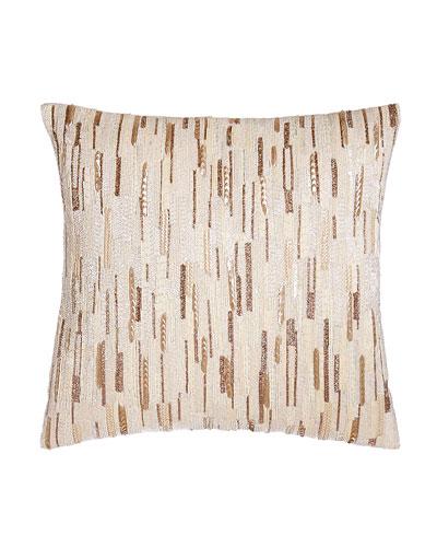 Luminous Sequined Pillow  18Sq.