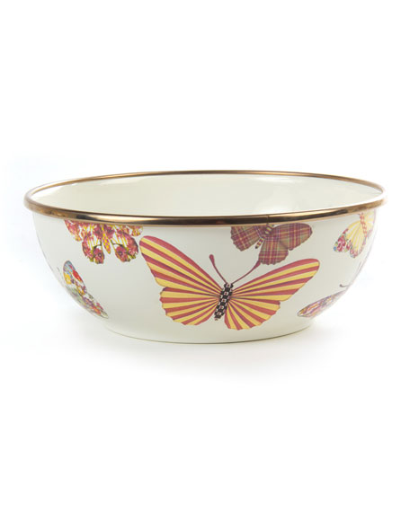 White Butterfly Garden Everyday Bowl