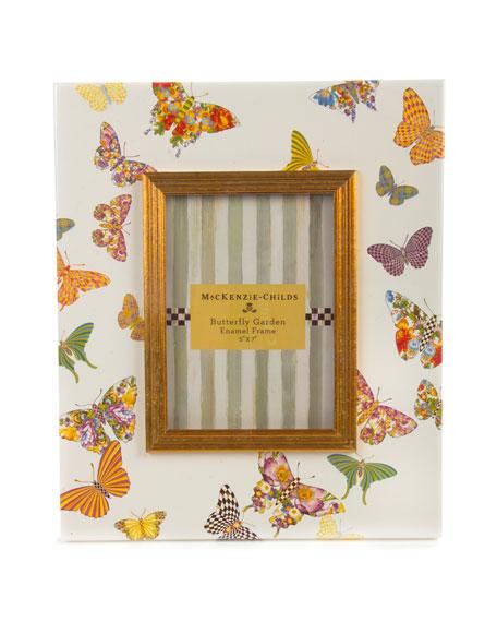 "White Butterfly Garden 5"" x 7"" Frame"