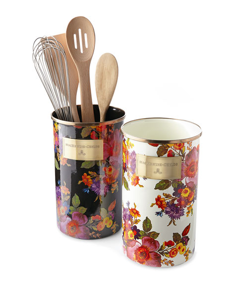Flower Market Black Utensil Holder