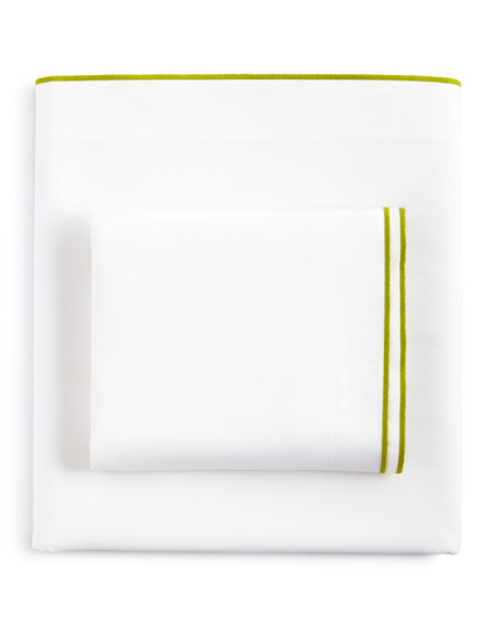 Astor Moss Queen 400 Thread-Count White Fitted Sheet
