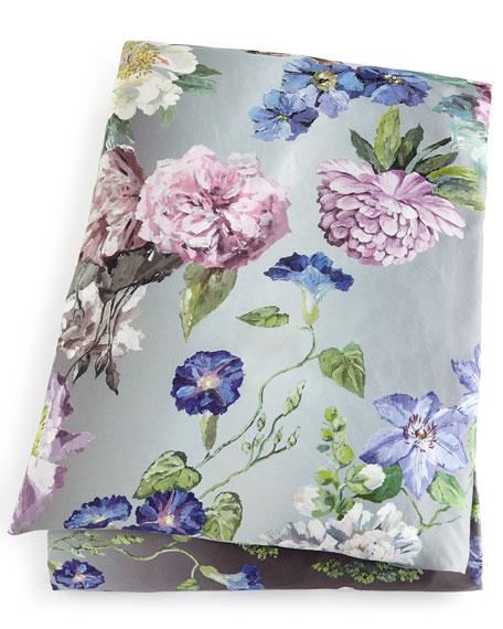 Alexandria Queen Floral Sateen Duvet Cover