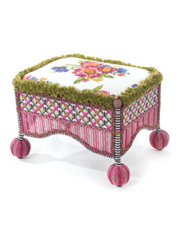 Flower Market Outdoor Square Ottoman
