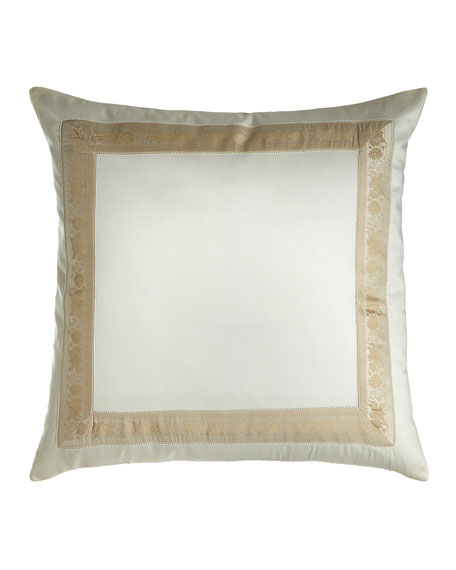 "Garland Pillow, 22""Sq."