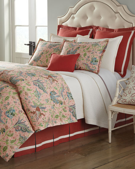 Queen Florentina Ecru Coverlet