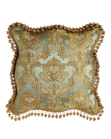 Palazzo Como Scalloped Damask European Sham
