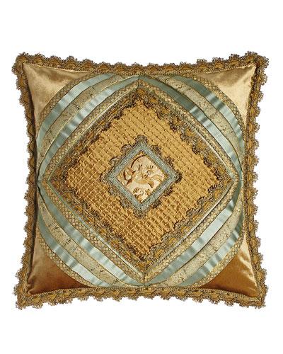 Palazzo Como Diamond-Center Pillow  20Sq.