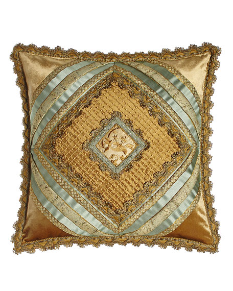 "Palazzo Como Diamond-Center Pillow, 20""Sq."