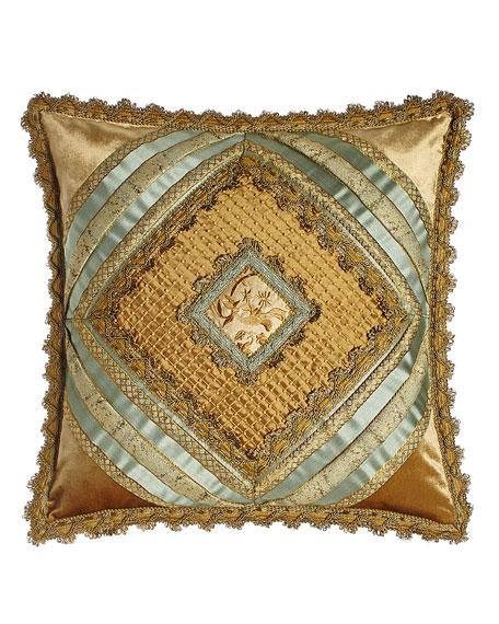 "Palazzo Como Diamond-Center Pillow, 20""Sq."
