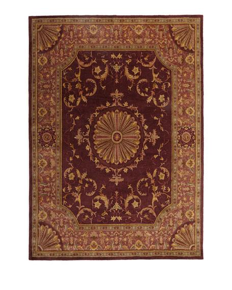 Burgundy Oaks Rug, 5' x 8'