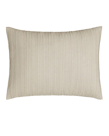 "Moonscape Faux-Leather Pillow, 12"" x 16"""
