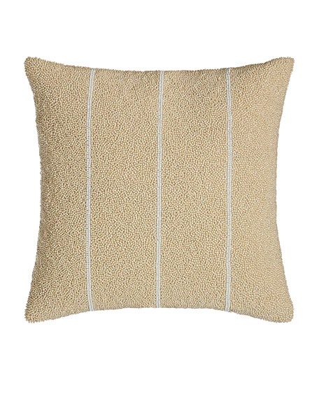 "Moonscape Bead Stripe Pillow, 12""Sq."