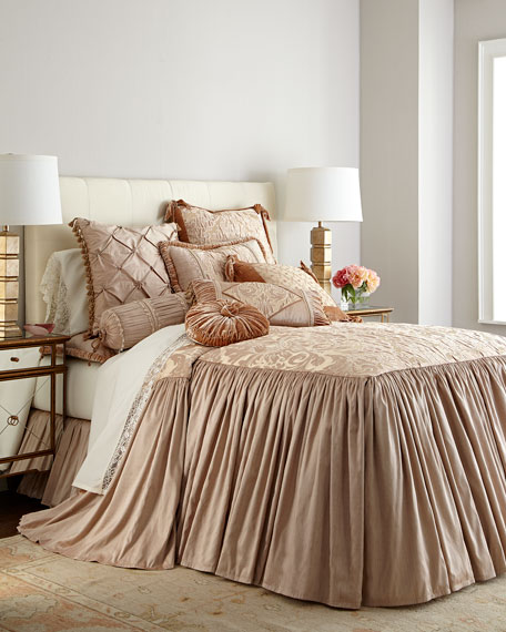 Modern Maiden King Skirted Coverlet