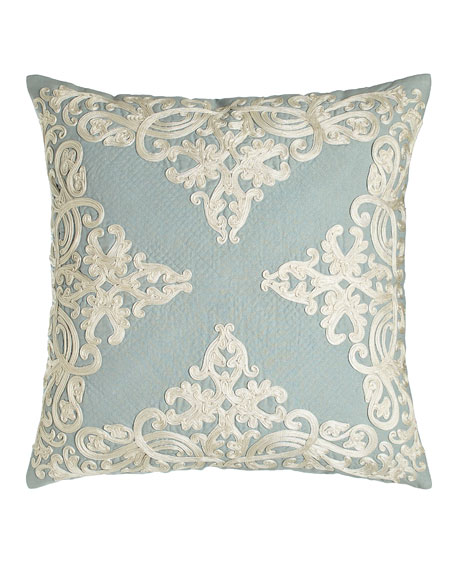 """Rienzo 22""""Sq. Pillow with Quilting Detail"""