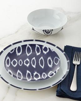 12-Piece Navy Ikat Dinnerware Service