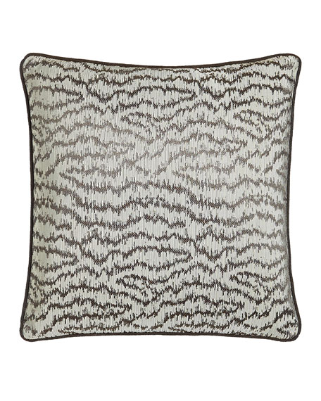 "Dante 18""Sq. Ikat Wave Pillow"