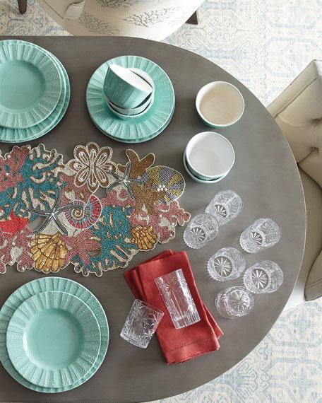 & 12-Piece Seaside Dinnerware Service