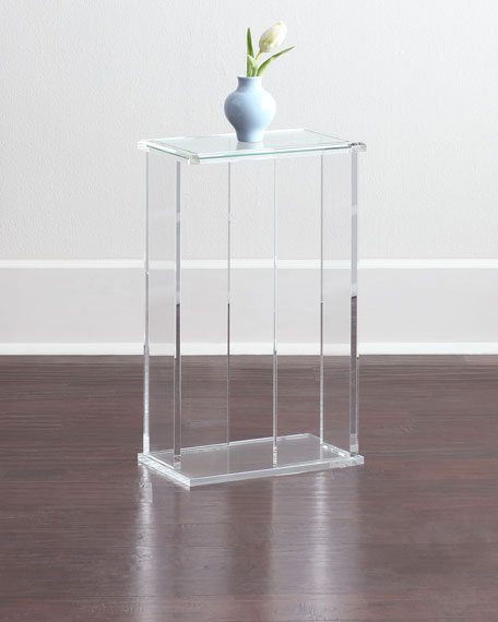Superbe Interlude Home Chase Acrylic End Table