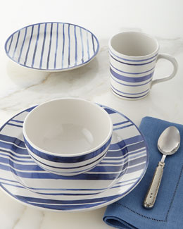 4-Piece Cote D'Azur Stripe Dinnerware Place Setting