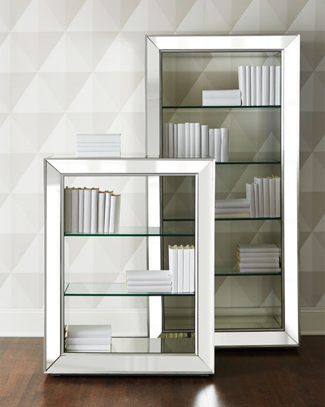 - Shilo Tall Mirrored Bookcase
