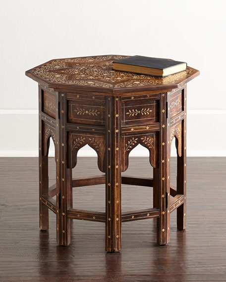 Delicieux Joli Bone Inlay Accent Table