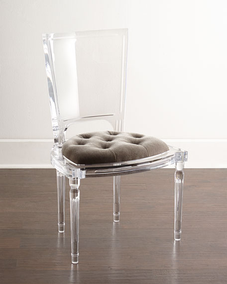 Global views katherine acrylic side chair for How to make lucite furniture