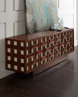 Kenny Basketweave Console