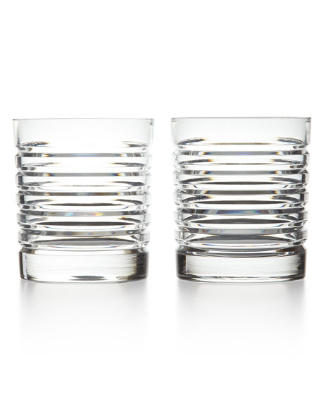 Two Metropolis Double Old-Fashioned Glasses
