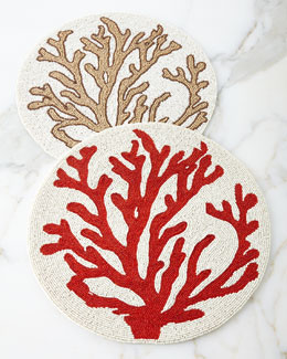 Coral Placemats, Set of 4