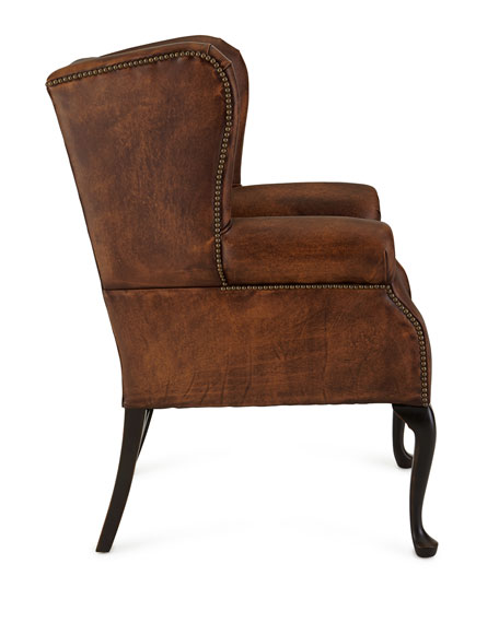 Leather Furniture Hickory North Carolina: Old Hickory Tannery Marco Leather Wing Chair