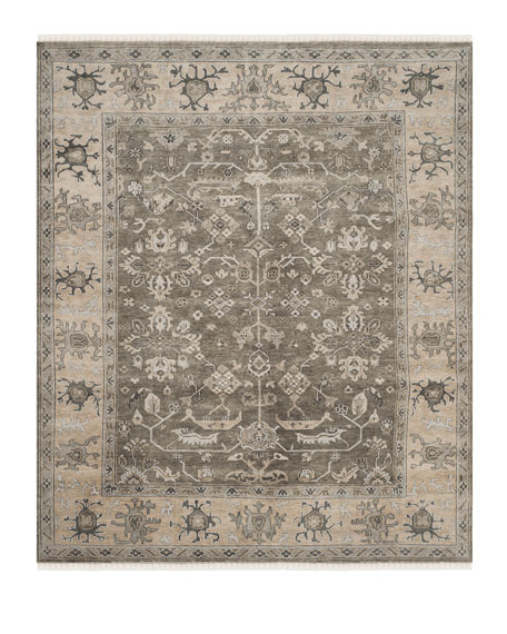 Micah Oushak Hand Knotted Rug, 10' x 14'