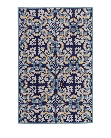 Paige Floral Tile Indoor/Outdoor Rug, 5' x 7'6""