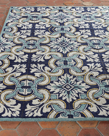 Paige Fl Tile Indoor Outdoor Rug 5 X 7 6