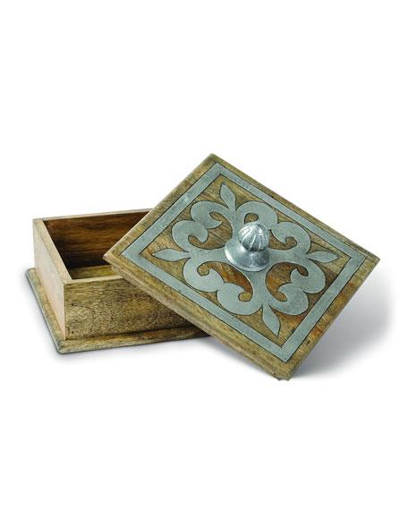 Wood & Metal Inlay Box