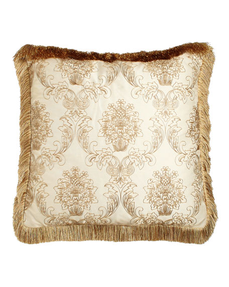 Catania European Sham with Embroidered Sheer Overlay