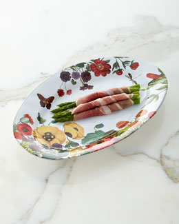Field of Flowers Oval Platter