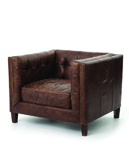 Sable Leather Club Chair