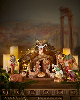 11-Piece Nativity with Italian Stable