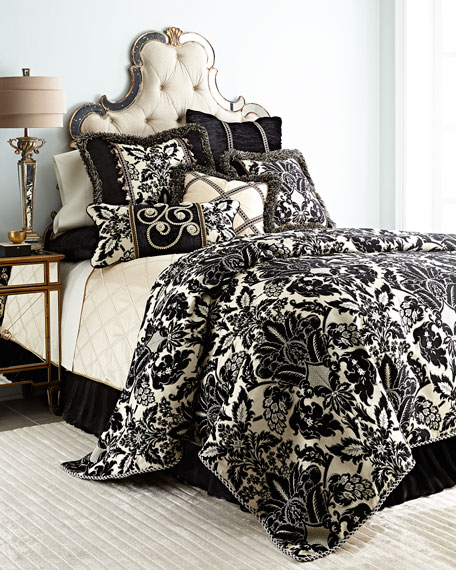 Verona Queen Damask Chenille Duvet Cover