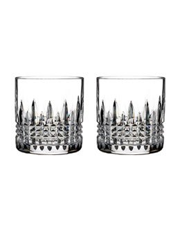 Lismore Diamond Double Old-Fashioneds, Set of 2