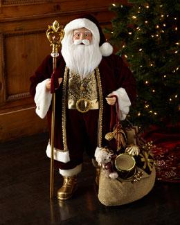 Burgundy Luxe Santa, 36
