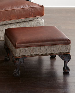 Beaumont Leather Ottoman
