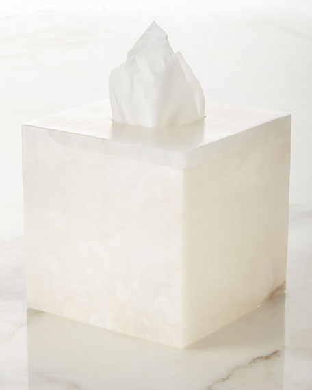 Alabaster Tissue Box Cover