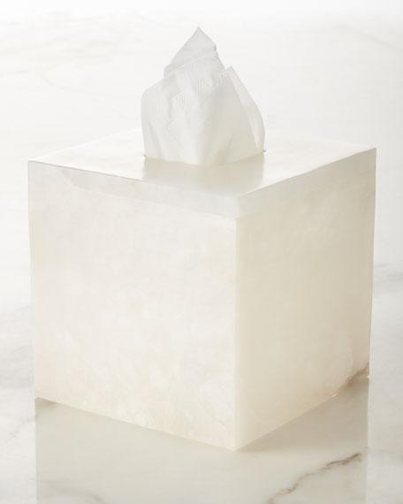 Alabaster Tissue Box Cover