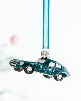 Green Jaguar Christmas Ornament