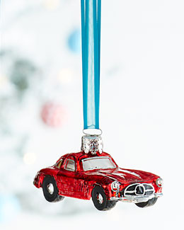 Red Mercedes Christmas Ornament