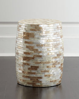 Capiz Barrel Stool